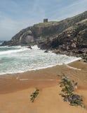 Santa Justa beach in vertical Stock Images