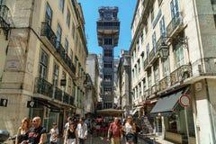 Santa Justa Elevador Lift in Lisbon Royalty Free Stock Photo