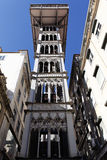 The Santa Justa Elevator. In Lisbon, Portugal Royalty Free Stock Images