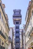 Santa Justa Elevator - a famous landmark in Lisbon Royalty Free Stock Images