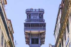 Santa Justa Elevator - a famous landmark in Lisbon Royalty Free Stock Image