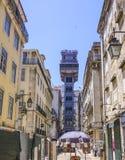 Santa Justa Elevator - a famous landmark in Lisbon Royalty Free Stock Photography