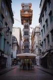 Santa Justa Elevator i Lissabon Royaltyfria Bilder
