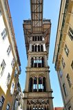 Santa Justa elevator, Lisbon. Portugal Stock Photos