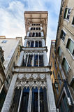 Santa Justa Elevator in Lisbon. The Santa Justa Lift is an elevator in the historical city of Lisbon, situated at the end of Rua de Santa Justa. It connects the Stock Photos