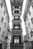 Santa Justa. The Santa Justa elevator in Lisbon (also known as the Elevator of Carmo) in Portugal Royalty Free Stock Photo