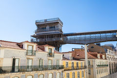 Santa Justa elevator in Lisbon, Portugal Stock Photography