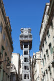 Santa Justa elevator in Lisbon, Portugal Royalty Free Stock Images