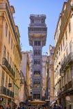 Santa Justa Elevator Lisbon Portugal Arkivbilder