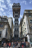 Santa Justa elevator in Lisbon Royalty Free Stock Photos
