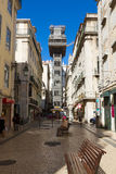Santa Justa elevator, Lisbon, Portugal Royalty Free Stock Photography
