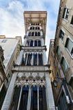 Santa Justa Elevator in Lissabon Stockfotos