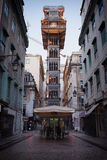 Santa Justa Elevator in Lissabon Royalty-vrije Stock Afbeeldingen