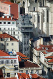 SANTA JUSTA HISStorn Lissabon Fotografering för Bildbyråer