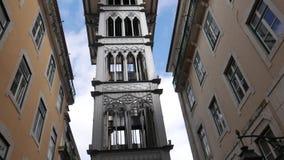 Santa Justa Lift Elevator Lisbon stock video