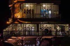 Santa Justa Lift i centrala Lissabon, Portugal Fotografering för Bildbyråer
