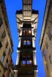 Santa Justa Lift, Lisbon. Santa Justa Lift by night (Elevador de Santa Justa) also knowned as Carmo Lift, Lisbon, Portugal Royalty Free Stock Photo