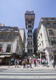 The Santa Justa Lift in Lisbon Stock Image