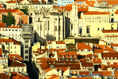 Santa Justa Lift, Lisbon, Portugal Royalty Free Stock Photography