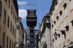 Santa Justa lift in Lisbon Stock Photography