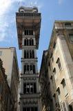 Santa Justa lift in Lisbon Stock Images