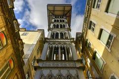 Santa Justa Lift - Lisbon, Portugal Royalty Free Stock Photo