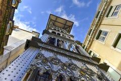 Santa Justa Lift - Lisbon, Portugal Royalty Free Stock Images