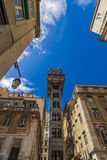 The Santa Justa Lift - Lisbon Portugal Royalty Free Stock Photos