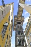 Santa Justa Lift in Lisbon, Portugal. Elevador de Santa Justa Stock Photo