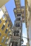 Santa Justa Lift in Lisbon, Portugal. Elevador de Santa Justa Royalty Free Stock Photo