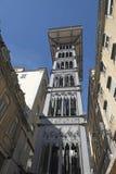 Santa Justa Lift, Lisbona Immagini Stock Libere da Diritti