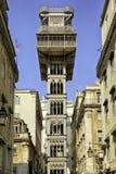Santa Justa Lift in Lissabon, Portugal lizenzfreie stockbilder