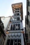 Santa Justa Lift, Lissabon, Tom Wurl Royaltyfri Bild
