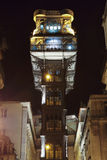 Santa Justa lift at night Stock Photography