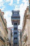 Santa Justa Lift. Popular Santa Justa Lift at Lisbon Royalty Free Stock Photos