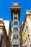 Santa Justa Lift (Portugaise : Elevador De Santa Justa), aussi Photos stock