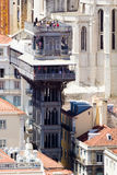 Santa Justa Lift (Portugaise : Elevador De Santa Justa) est Image stock