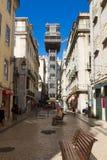 Santa Justa winda, Lisbon, Portugalia Fotografia Royalty Free