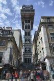 Santa Justa winda w Lisbon Zdjęcia Royalty Free