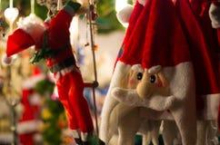 Santa kapelusz Zdjęcia Royalty Free