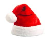 Santa kapelusz odizolowywający Zdjęcia Royalty Free