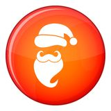 Santa kapelusz, wąsy i broda, prosty styl royalty ilustracja