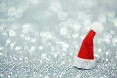 Santa kapeluszu tło Zdjęcie Stock