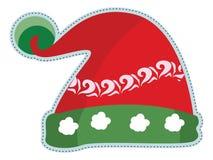 Santa kapeluszy doodles ilustracja wektor