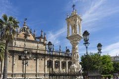 Santa katedra Seville Obrazy Royalty Free