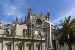 Santa katedra Seville Zdjęcie Royalty Free