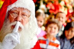 Santa keeping it quiet Stock Photography