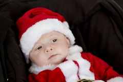 Santa kid Stock Images