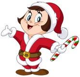 Santa kid Stock Image