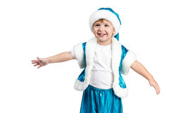 Santa Kid wants to hug you Royalty Free Stock Images